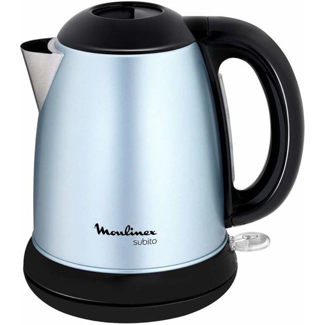 Moulinex bouilloire électrique de 1,7L sans fil 2400W gris noir