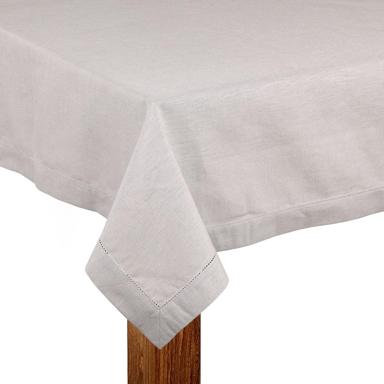 alin a trevise nappe en coton et lin gris clair 170x170cm pas cher achat vente nappes. Black Bedroom Furniture Sets. Home Design Ideas