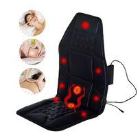 HOMCOM - Siège de Massage matelas coussin de massage fonction chauffante 7 têtes de massage 2 modes noir neuf 63