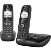 GIGASET - Téléphone répondeur sans fil duo AS405A Noir