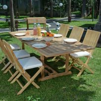 2 Ecograde À M6 Vera Teck Salon Extensible 1 8 De 4 En Chaises Jardin Karimun CruzTable wvmn8ON0