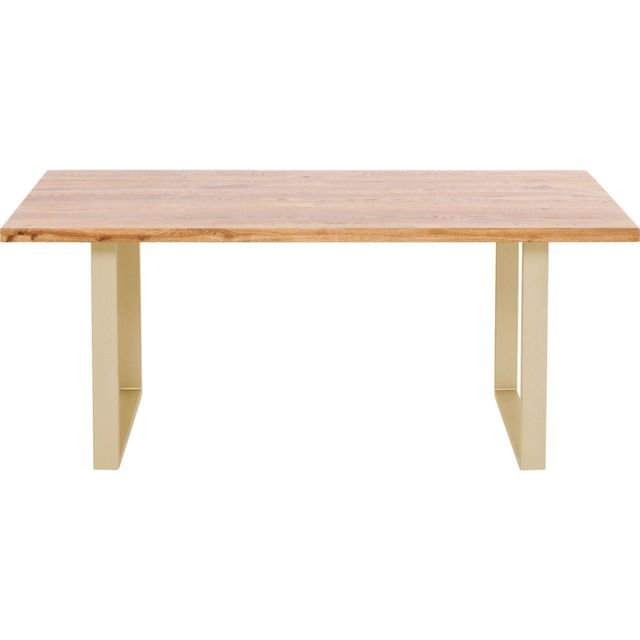 Karedesign Table Jackie chêne laiton 200x100cm Kare Design