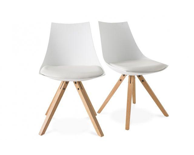 demeyere lot de 2 chaises scandinave blanche - Chaise Blanche Scandinave