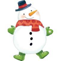 Amscan International ltd - Christmas - Noel - Ballon En Alu - Bonhomme De Neige