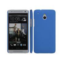 Kabiloo - Coque rigide Bleue pour Htc One Mini aspect mat toucher rubber gomme