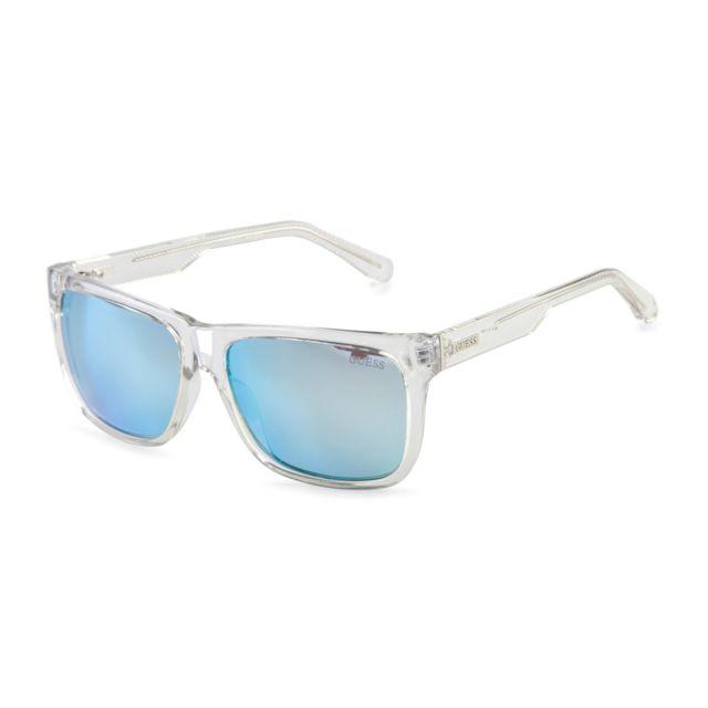 6ca54ab36bc8d Buzzao - Lunettes de soleil grises avec verre bleu pour homme Guess ...