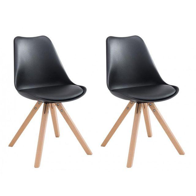 Decoshop26 Lot de 6 chaises de salle à manger scandinave