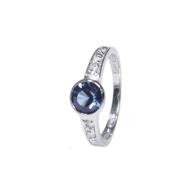 No Name - Bague Argent 925 Rhodié Zirconium Cristal Bleu couleur multicolor  taille 50 d6938e08fb68