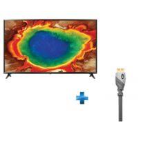 LG - TV LED 65'' 164cm 65UJ630V + MONSTER- Câble HDMI Advanced High Speed Gold - 1.5m