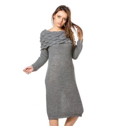 Princesse Boutique Robe Pull Grise Foncee Col Bateau Pas Cher Achat Vente Pulls Femme Rueducommerce