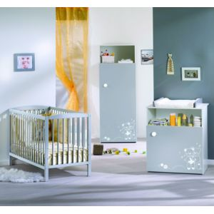 Alibaby ensemble lit b b commode 1 porte tamy pas for Ensemble lit commode bebe