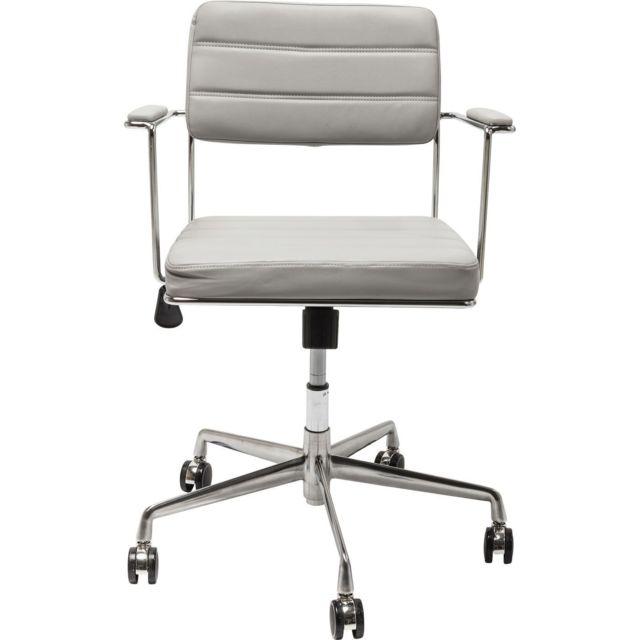 Karedesign Chaise de bureau pivotante Dottore grise Kare Design