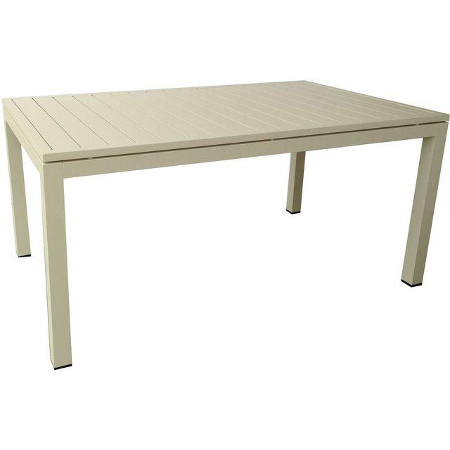 Comforium Table de jardin 160 cm coloris Sand