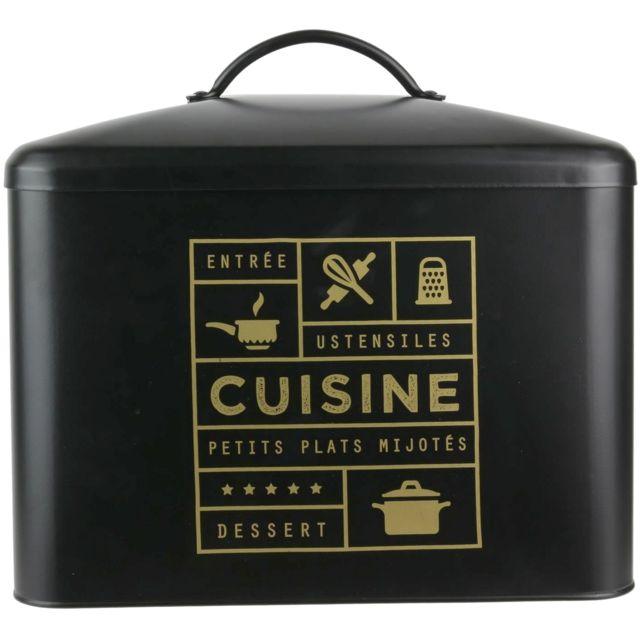 Promobo Boite De Rangement Cuisine Design Luxe Collection Black
