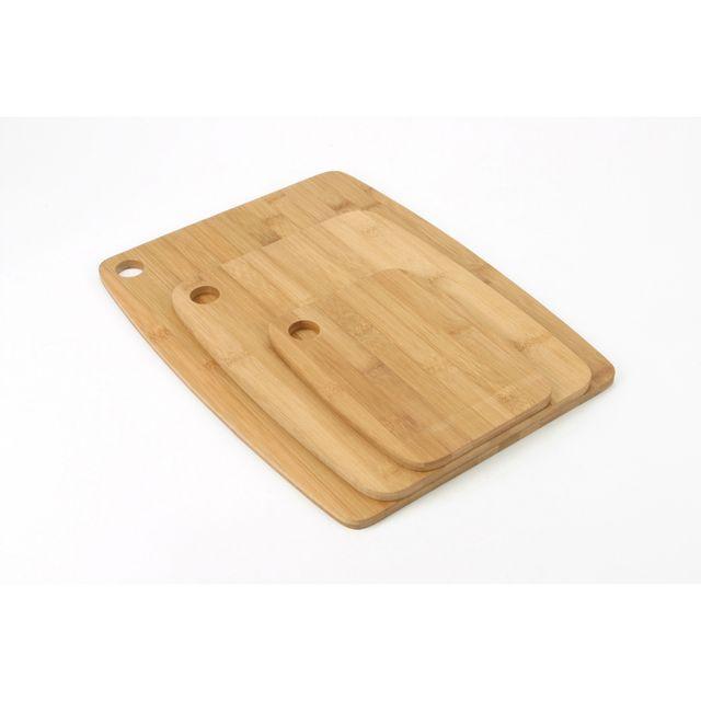 Secret De Gourmet 3 planches à découper en bambou