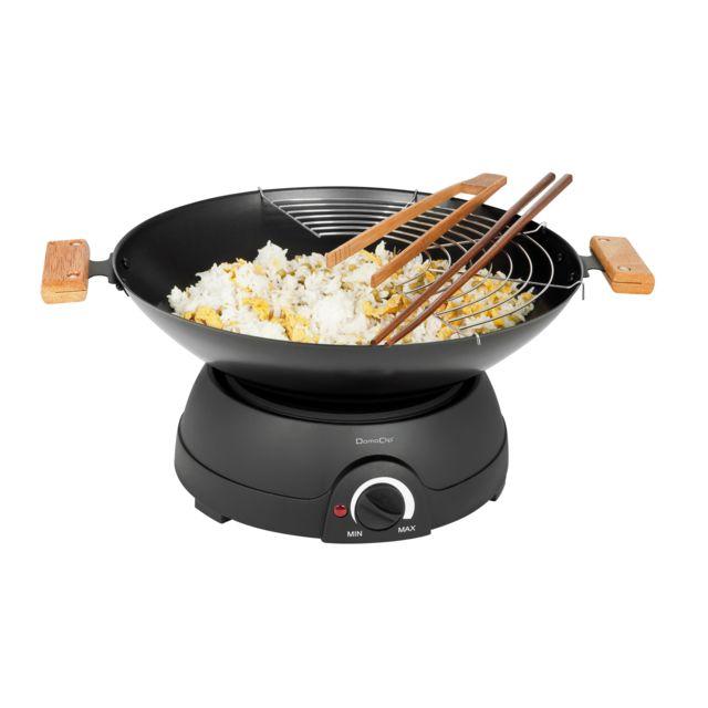 DOMOCLIP Set wok et fondue électrique DOM194