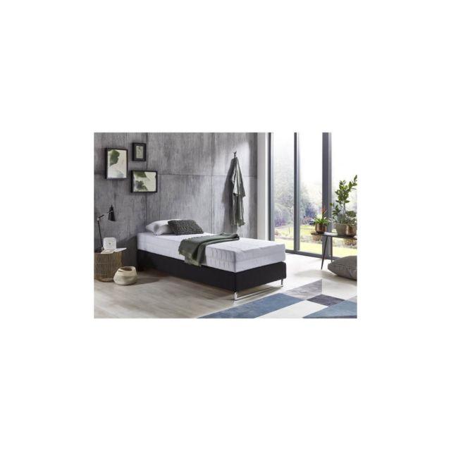Sans Marque Matelas 90x190cm - Ressorts Ensaches - 17 Cm - Mi-ferme - T1090