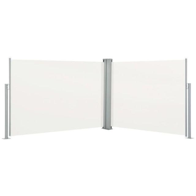 Vidaxl Auvent latéral rétractable Crème 100 x 1000 cm