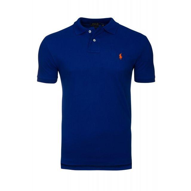 Lauren Taille Custom Ralph Fit Bleu Royal Polo Xxl Pas Cher AR3j54Lq