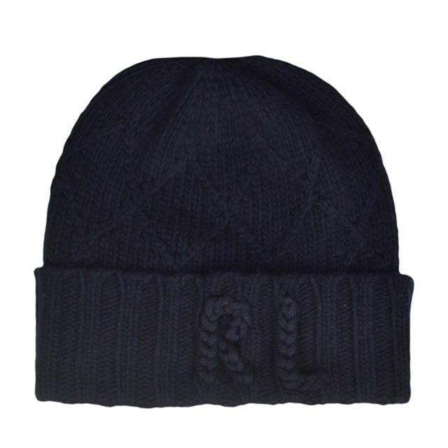 Ralph Lauren - Bonnet tricoté bleu marine pour femme - pas cher Achat   Vente  Casquettes, bonnets, chapeaux - RueDuCommerce 63e042a8ba9