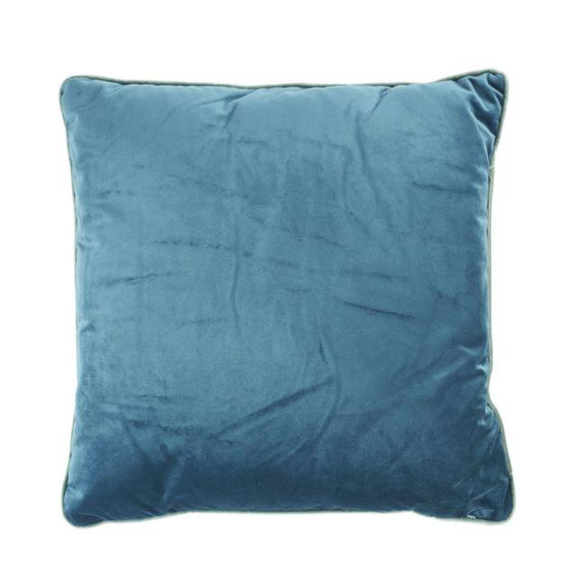 athezza coussin countra 45 x 45 cm bleu canard vert de gris vert de gris bleu canard 45cm. Black Bedroom Furniture Sets. Home Design Ideas