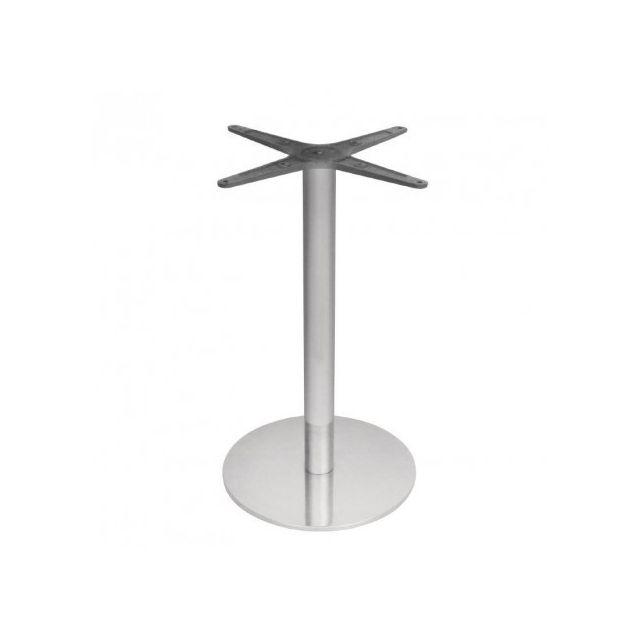 Materiel Chr Pro Pied de table rond en acier inoxydable Bolero