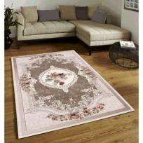 Tapis de salon classique au design oriental - Sunshine - Beige - 80 X 150 cm