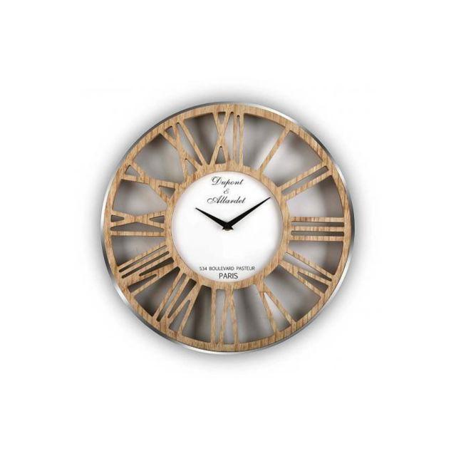 Declikdeco horloge murale en bois dydy multicolore 4cm x 40cm x 40cm pas cher achat for Horloge murale multicolore
