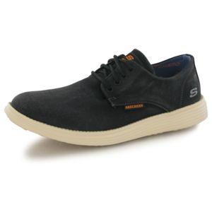 Skechers Borges noir, baskets confort homme