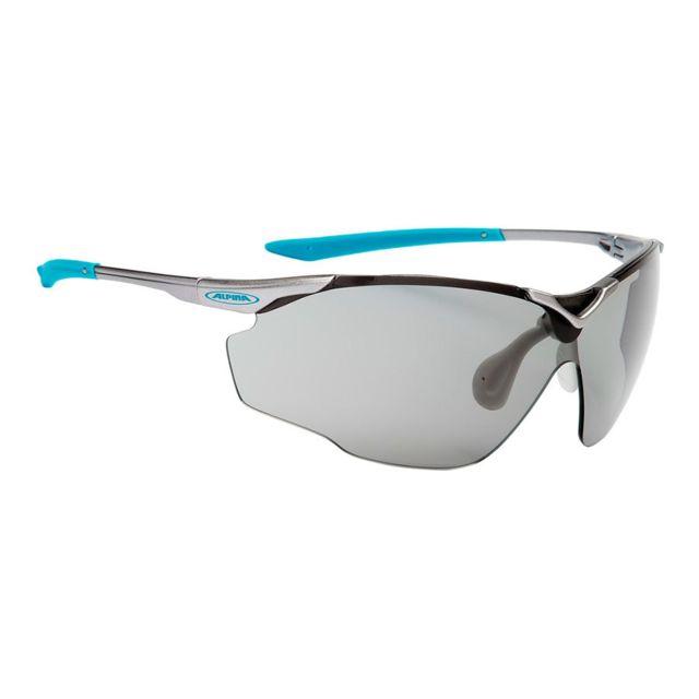 Alpina - Lunettes Splinter Vl gris bleu verres Varioflex noir
