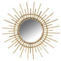 AUBRY GASPARD - Miroir rotin vintage soleil