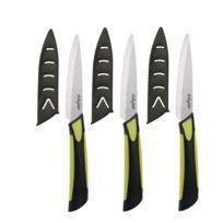 Dailycious - Lot de 3 Couteaux à Steak Céramique Vert/Noir
