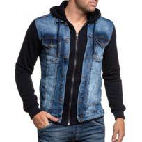 BLZ Jeans - Veste noir et jean zippé à capuche
