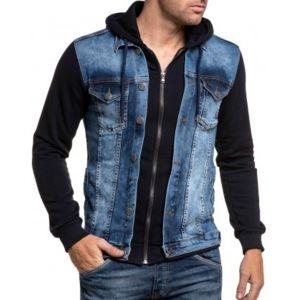 blz jeans veste noir et jean zipp capuche pas cher achat vente gilet homme rueducommerce. Black Bedroom Furniture Sets. Home Design Ideas