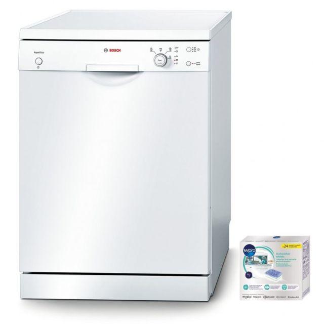 Bosch Lave-vaisselle Posable Blanc 48dB A+ 12 couverts 60cm Départ différé Aquastop