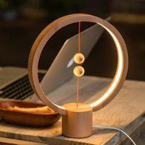 Rond De MagnétiqueBois Hêtre Balance Lampe Led 5w Usb Avec Alimenté Veilleuse Interrupteur ZuwkiPXOT