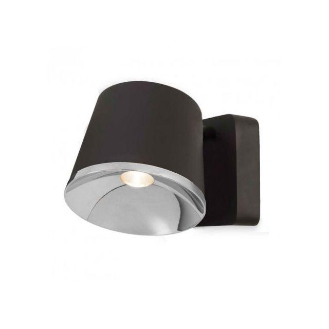 leds c4 applique murale orientable drone led marron fonc pas cher achat vente appliques. Black Bedroom Furniture Sets. Home Design Ideas