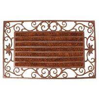 Esschert Design - Paillasson tapis fonte rouleaux coco interchangeables - 74 x 46 cm