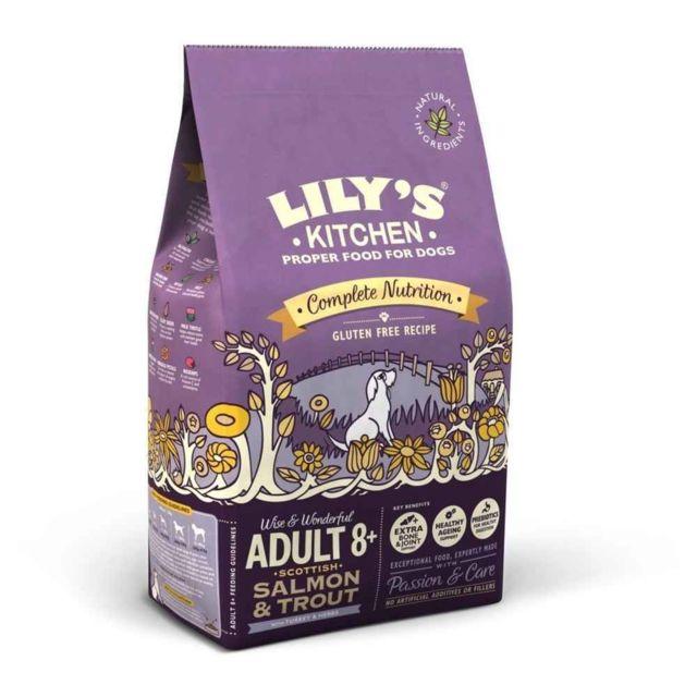 Croquettes Sans Gluten au Saumon et à la Truite d'Écosse pour Chiens Senior - Lily's Kitchen - 2,5Kg