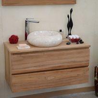 wildwater meuble suspendu 2 tiroirs en teck ecograde 90 cm kharart