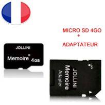 Achat Carte Memoire Micro Sd 4 Go Classe 10 Adaptateur Sd Pour Haier L54 Universel Protection Jollini Dans Le Rayon Carte Sdhc