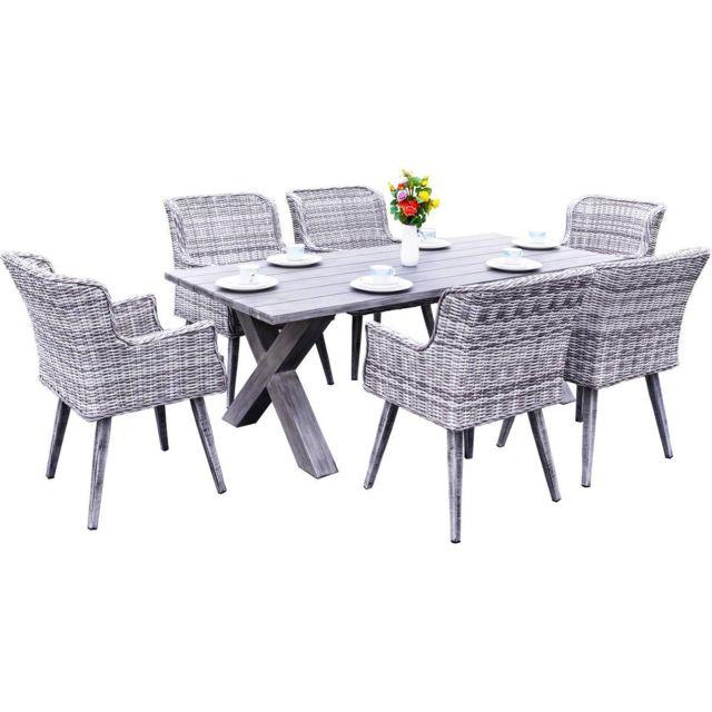 habitat et jardin salon de jardin en r sine tress e kimito scandinave gris nc pas cher. Black Bedroom Furniture Sets. Home Design Ideas