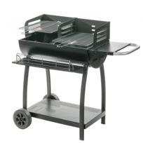 Cross - Barbecue 1/2 tonneau 2 grilles avec tablette acier