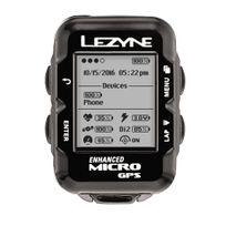 Lezyne - Micro - Compteur sans fil - avec appareil de mesure de la fréquence cardiaque et capteur de cadence noir