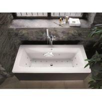 Maison De La Tendance - Baignoire en acrylique lucite rectangulaire Eliza 169x75x40 cm
