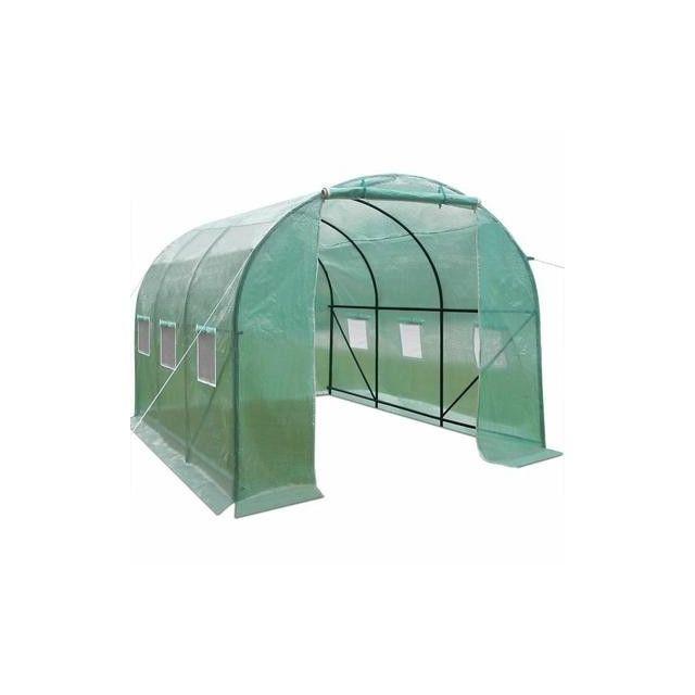 Bache pour serre de jardin tunnel galina de 6 m en for Bache plastique pour serre de jardin