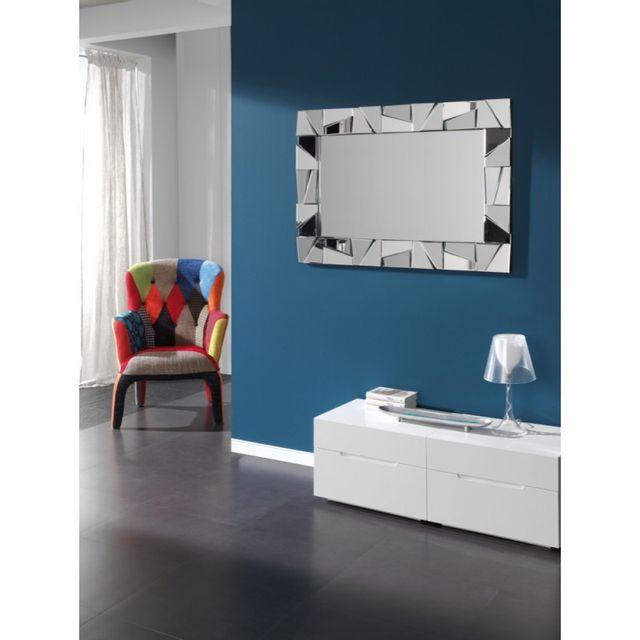 Ma Maison Mes Tendances Miroir rectangulaire en verre Reza - L 77 x l 120