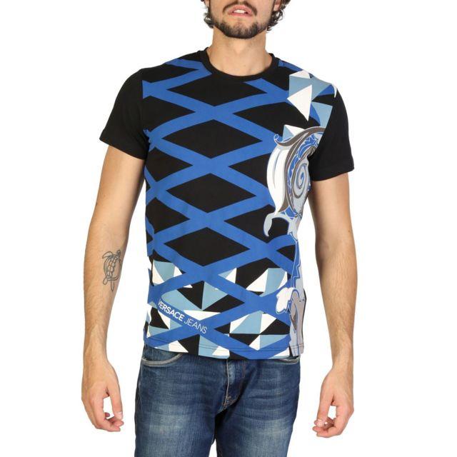 Versace - Jeans - T-shirt imprimé homme - Noir - pas cher Achat ... d858535879ac