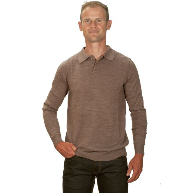 Ugholin Pull col polo cachemire homme beige