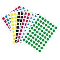 Majuscule - Pochette de 2520 maxi gommettes géométriques adhésives 16mm